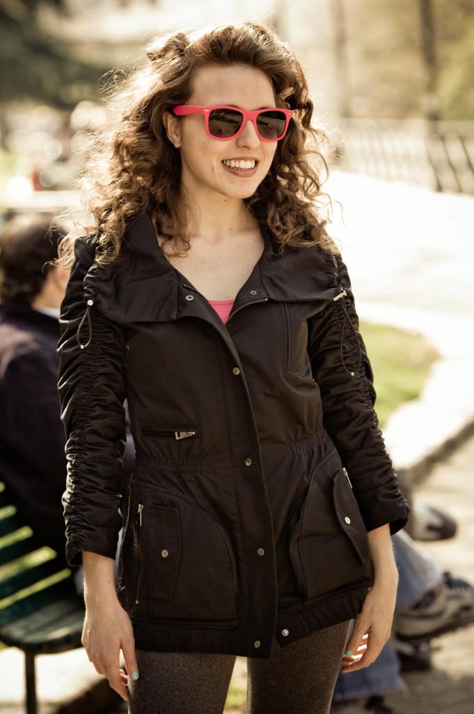 occhiali da sole, rosa, gommati