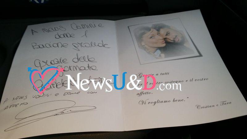 autografo per news uomini e donne