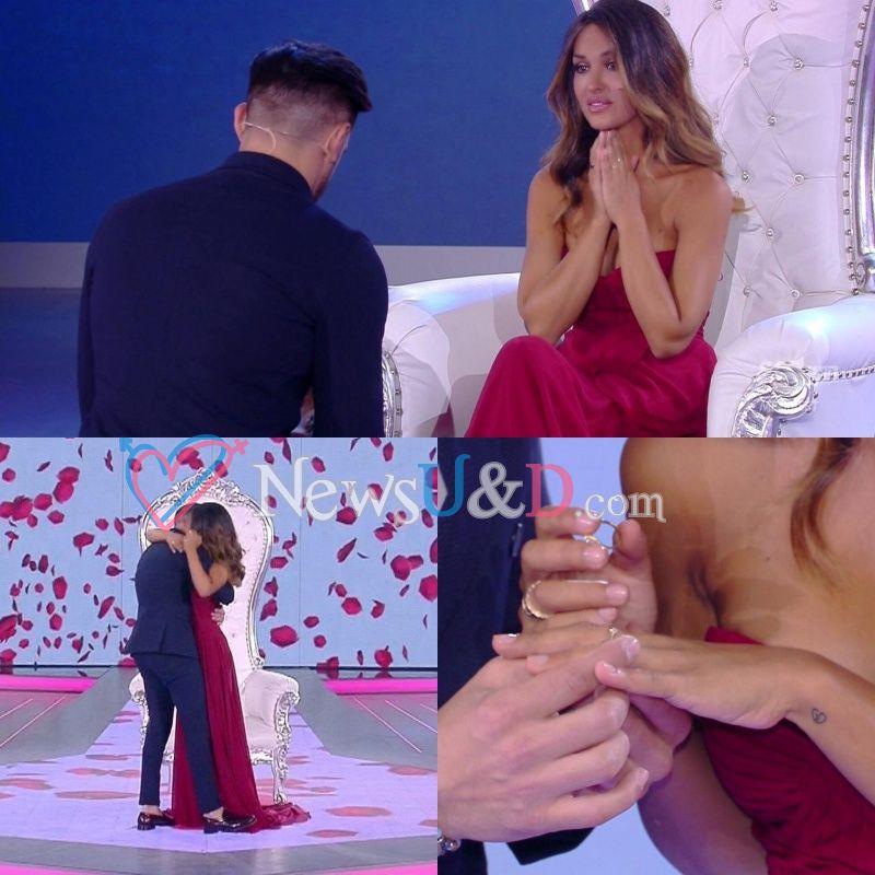 Pietro Tartaglione fa la proposta di matrimonio alla sua Rosa Perrotta