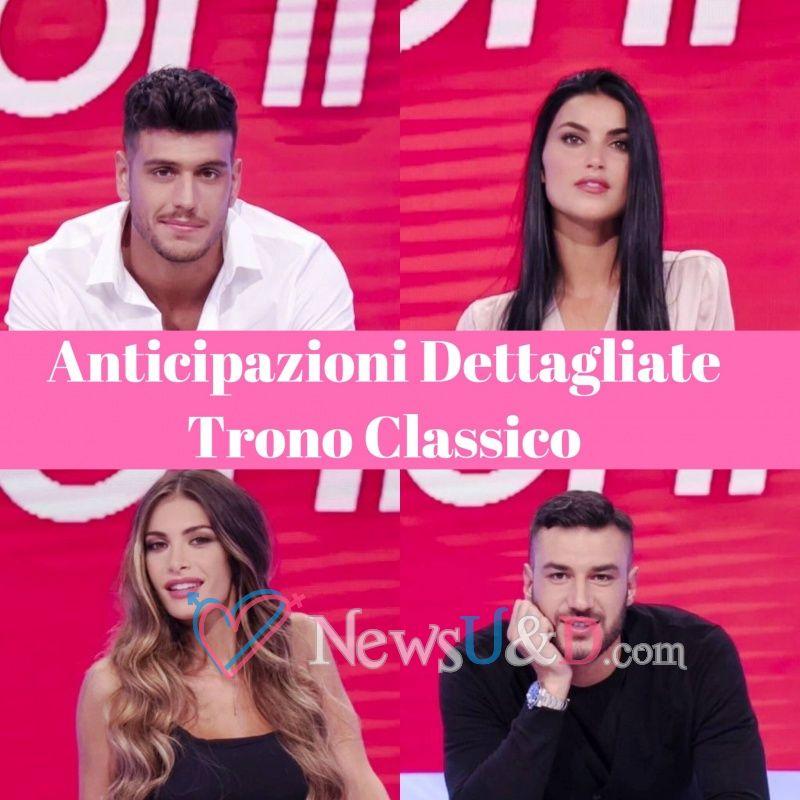 Anticipazioni Uomini e Donne Trono Classico registrato il 07/10/2018 Lorenzo-Giulia-Luigi, Mara contro Andrea