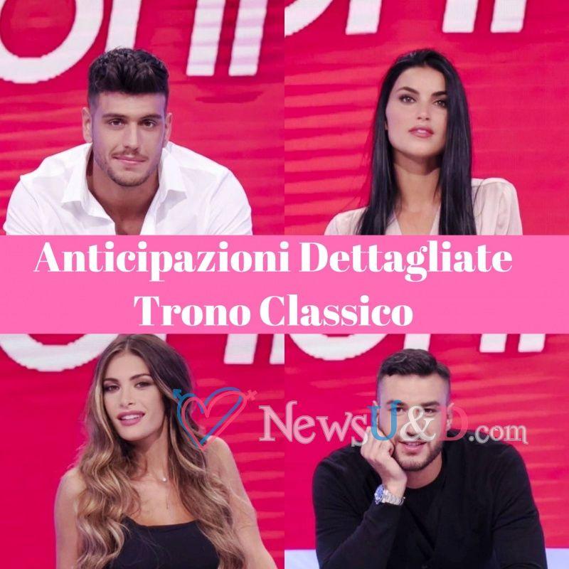 Anticipazioni Uomini e Donne Trono Classico registrato il 04/10/2018 Lorenzo elimina Greta