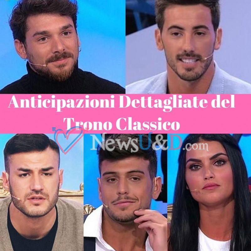 Anticipazioni Uomini e Donne Trono Classico registrato il 07/12/2018 Bacio Sonia-Luigi, Luca si elimina