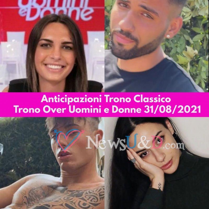 Anticipazioni Uomini e Donne Trono Classico e Trono Over registrato il 31/08/2021 : I tronisti iniziano a contendersi la stessa corteggiatrice e…